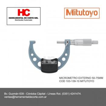 103-139-10 MICROMETRO EXTERNO 50-75MM