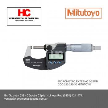 293-240-30 MICROMETRO EXTERNO 0-25MM