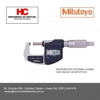 293-821-30 MICROMETRO EXTERNO 0-25MM