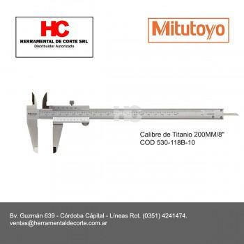 CALIBRE CON GUÍAS DE TITANIO 200MM 530-118B-10
