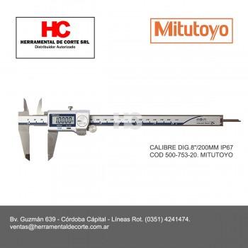 """COD 500-753-20 CALIBRE DIG.8""""/200MM IP67"""