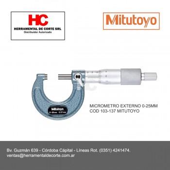 103-137 MICROMETRO EXTERNO 0-25MM